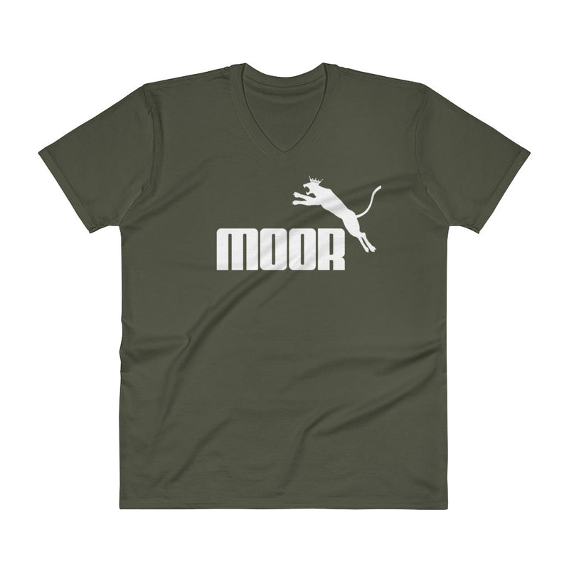 Aboriginal Moor Panther Logo (Dark) V-Neck T-Shirt