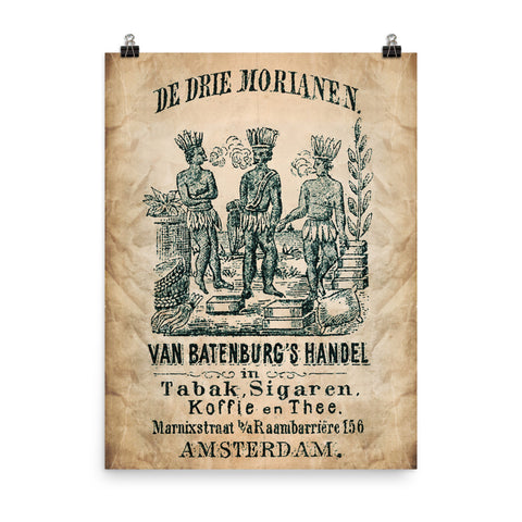 "1840 - 1900 Cigar Bag ""DE OLIPHANT and Moor."" Photo paper poster"