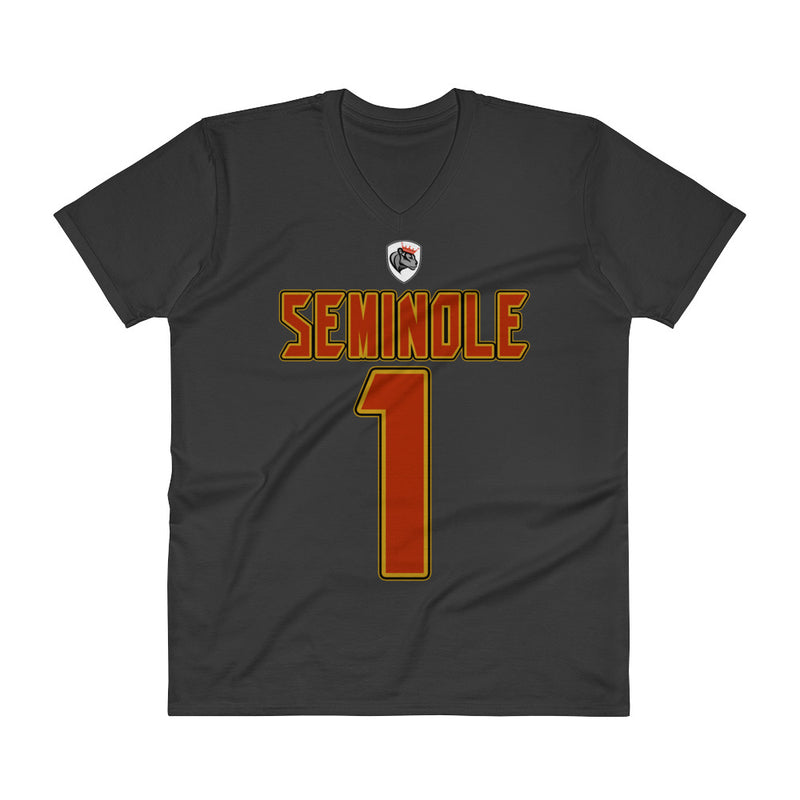 Aboriginal Moor Seminole Tribal V-Neck T-Shirt