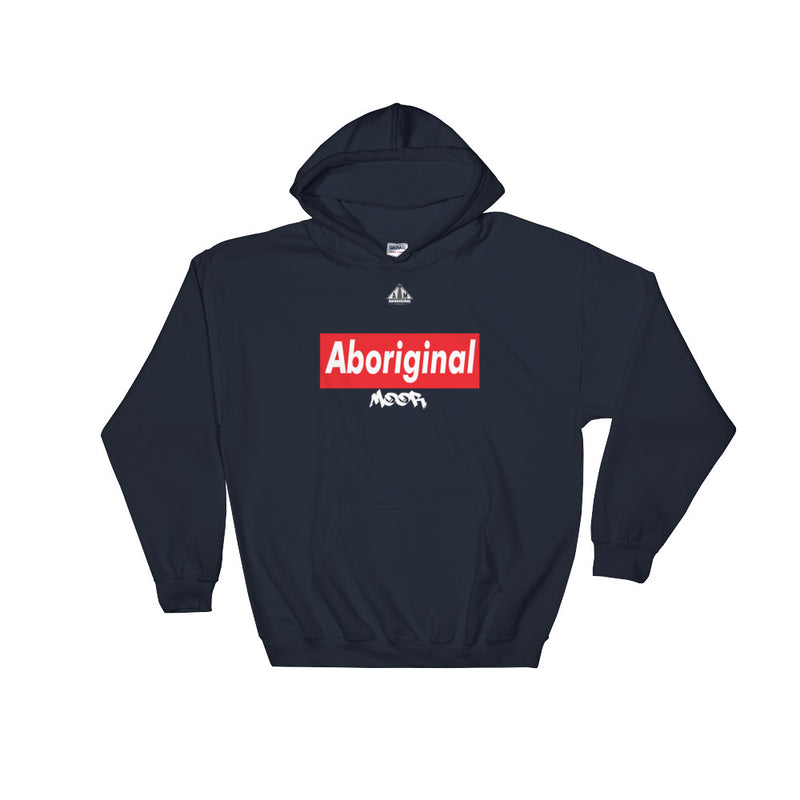 Aboriginal Moor Logo 4 (Dark) Hooded Sweatshirt