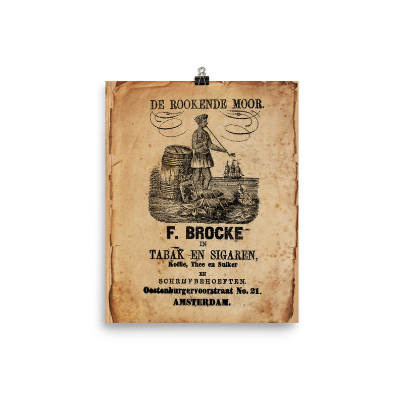 "1895 - 1915 ""Cigar Bag & THE ROOKENDE MOOR"" Photo paper poster"