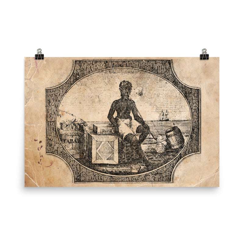 "1800 - 1860 ""Moor Sitting and smoking"" Photo paper poster"