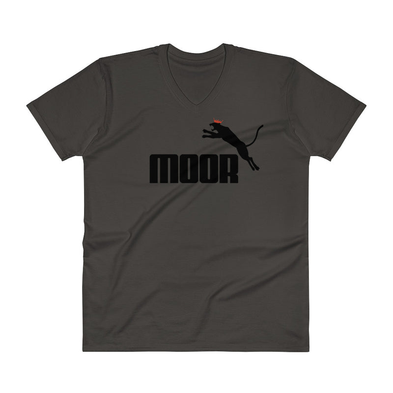 Aboriginal Moor Panther (Light) V-Neck T-Shirt