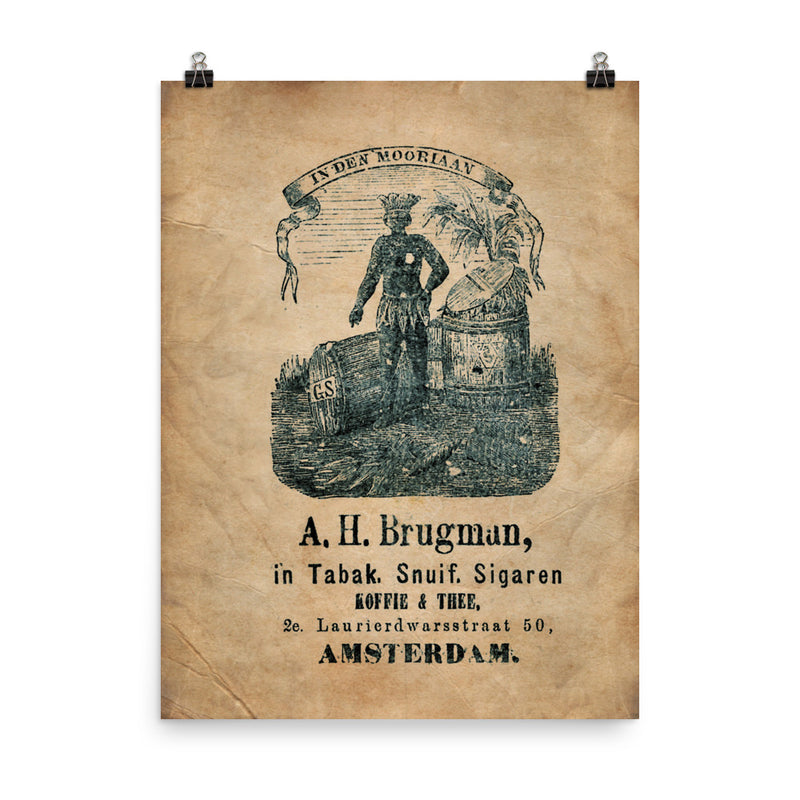 "1885 ""Cigar Bag and the Moor"" Photo paper poster"