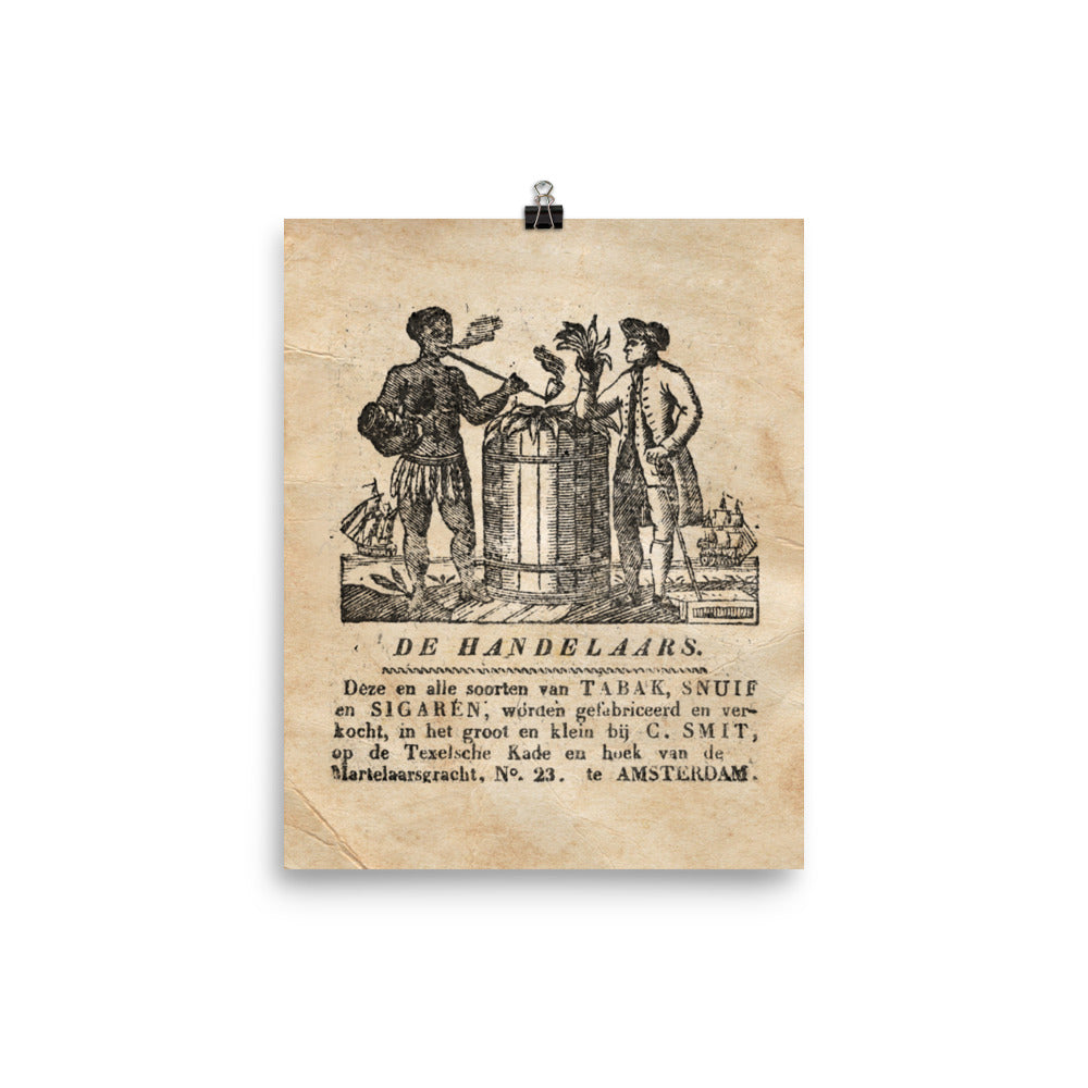 "1800 - 1870 ""DE TRADERS"" Photo paper poster"