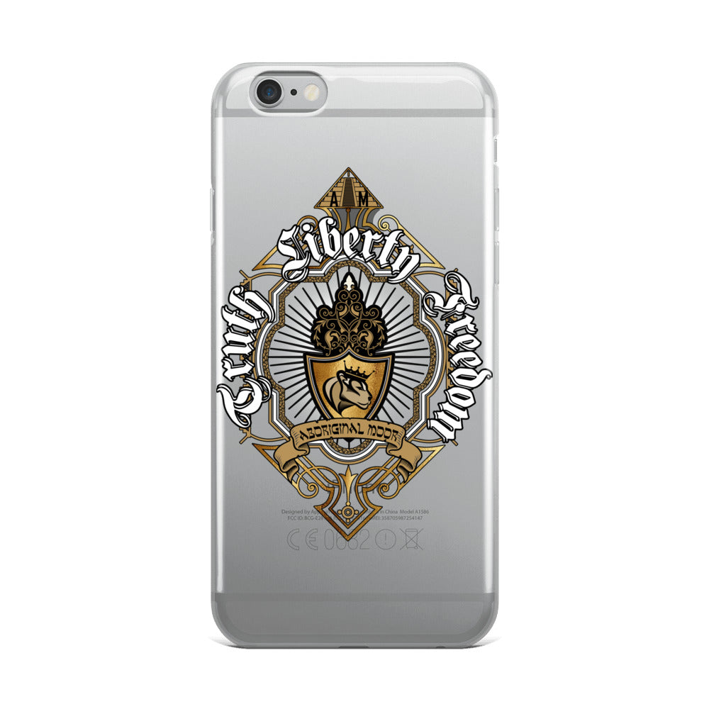 Aboriginal Moor Truth Liberty Freedom iPhone Case