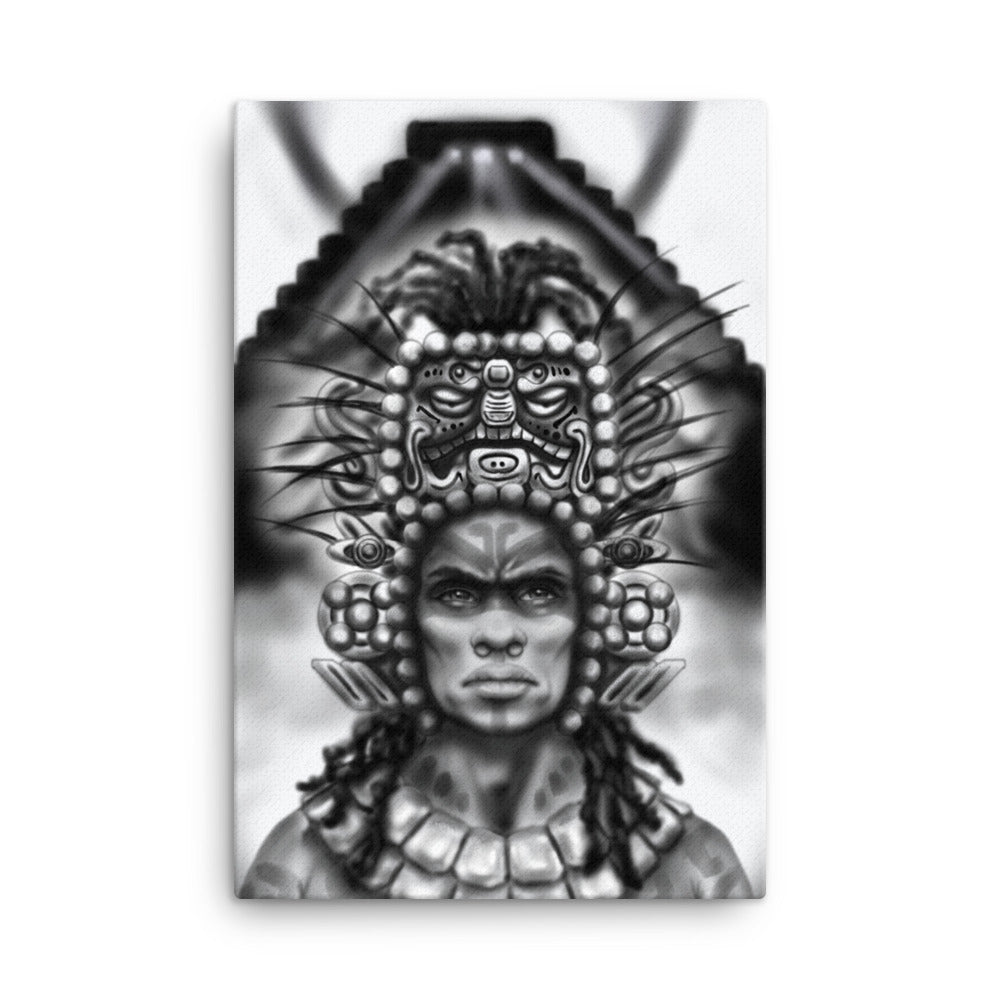 Aboriginal Moor Mayan Warrior Canvas