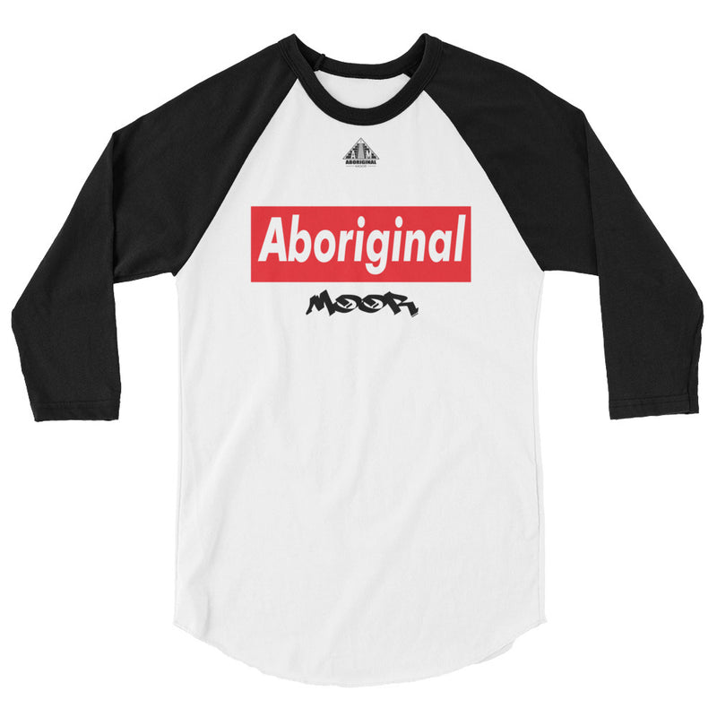 Aboriginal Moor Logo 4 Raglan (Light Tees)