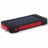 Waterproof 3,000 mAh Solar Battery Powerbank