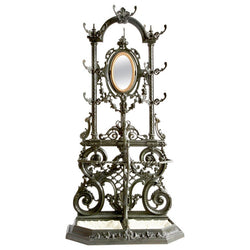 Cast Iron Coat and Hat Stand by Frères Corneau