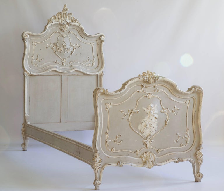 Pair of Louis XV Style Matching Beds