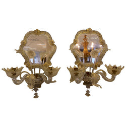 Pair of Early 20th Century Murano Wall Lights