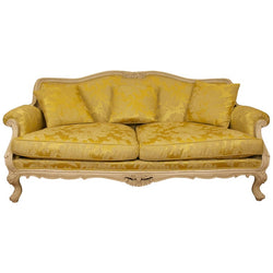 Hand Carved, Louis XV Style Sofa