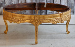 Giltwood Low Round Table