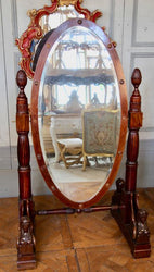 19th Century Italian Cheval Mirror