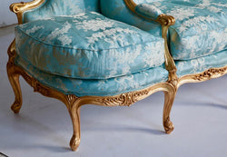 Giltwood Sofa Hand Carved in the Louis XV Style