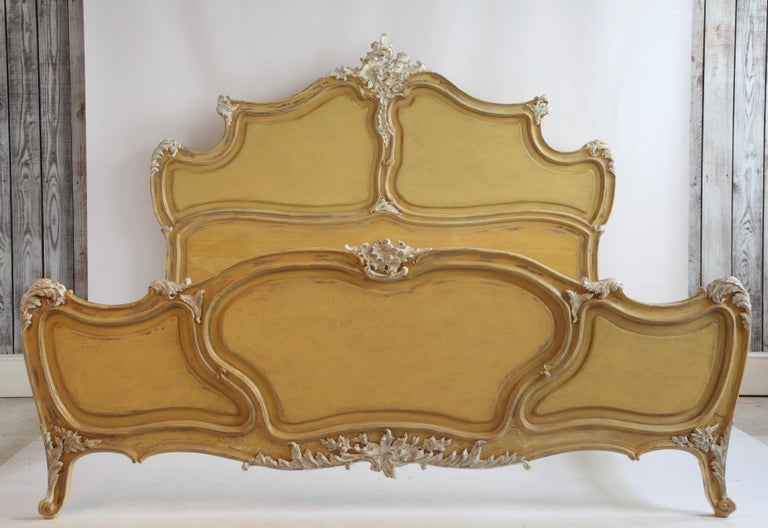 Louis XV Style Painted Bed