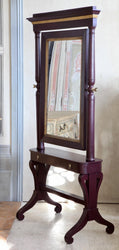 19th Century Painted Cheval Mirror