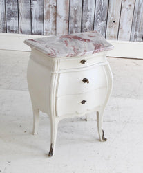 Pair of Bombe Louis XV Style Bedside Tables