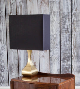 Midcentury Shaped Brass Table Light