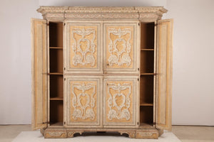 Antique Italian Painted Cabinet from Tuscany