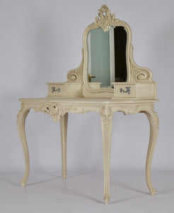French LXV Style Dressing Table Finished in Antique White