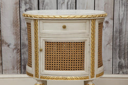 Pair of LXV style Hand Carved Bedside Tables