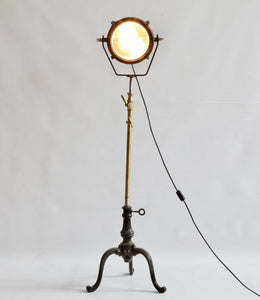 Midcentury French Industrial Freestanding Light