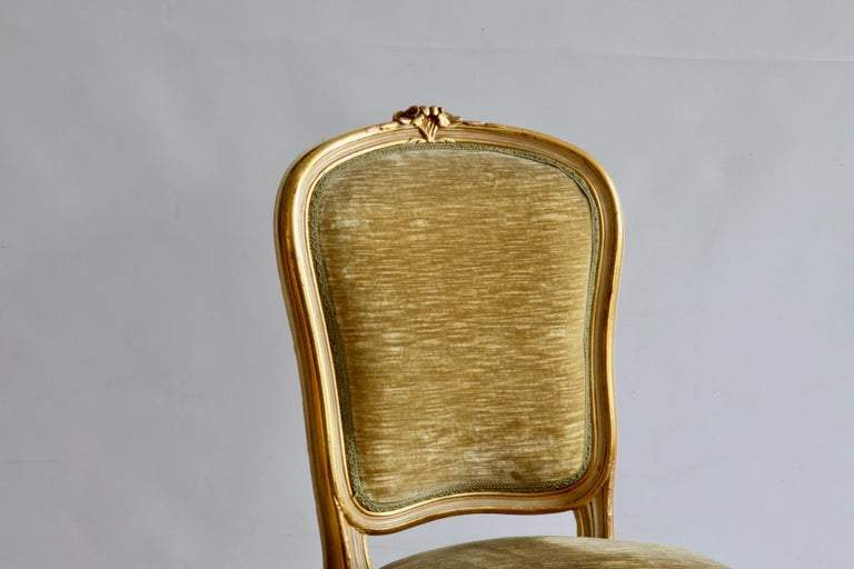 Set of 6 Matching Louis XV Style Chairs