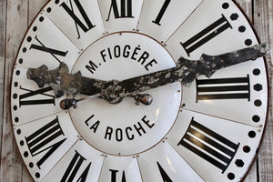 Large White Enamelled Clock Face