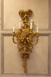 Large Louis XV Style Giltwood Wall Lights
