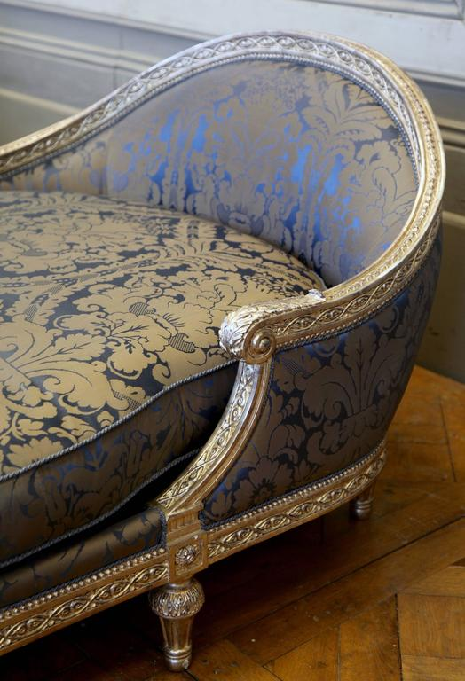 Louis XVI Style Chaise Longue Based on a Coco Chanel Chair