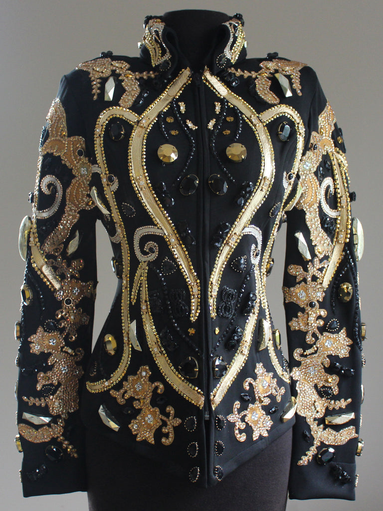 Size 10 Golden Shadow, Aurum & Jet Showmanship Jacket