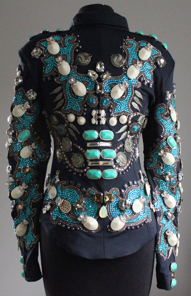 Size 4 Blue Zircon & Smoked Topaz Showmanship Jacket