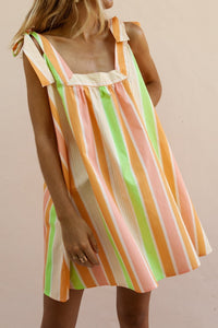 Fashion Striped Sleeveless Casual Dress