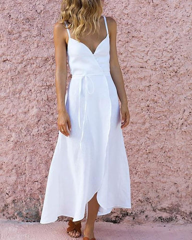 Strap Irregular Hem Strap Dress
