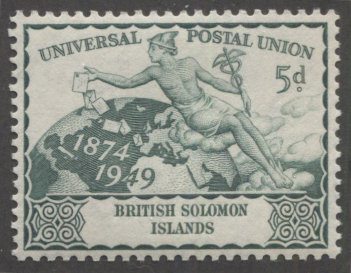 Design Type Differences on the 1949 UPU Issue Common Designs
