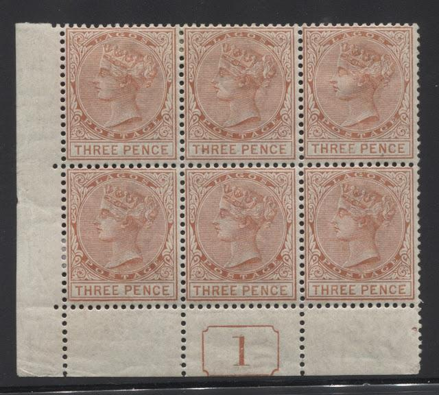 Mint Blocks of the Queen Victoria Keyplate Stamps of Lagos Not Already Shown in Previous Posts