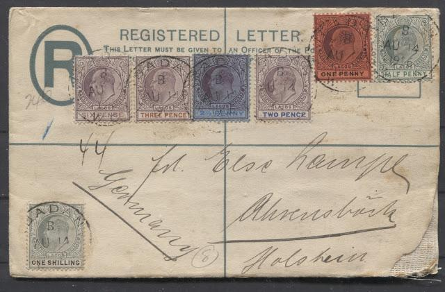 Postal History of the 1904-1906 King Edward VII Keyplate Issue of Lagos