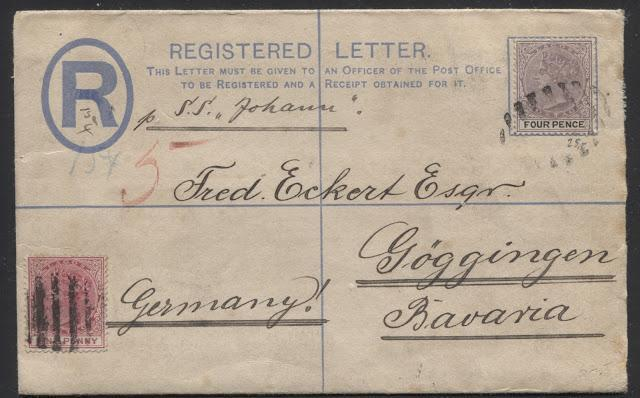 Postal History Of The Queen Victoria Issues of Lagos 1882-1903