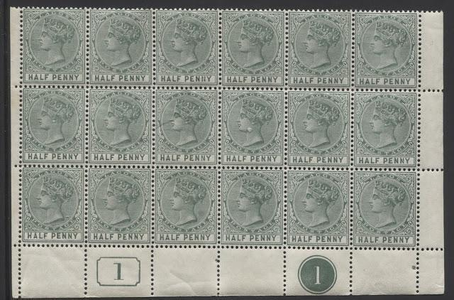 Printings of the 1/2d Green and 1d Carmine Queen Victoria Keyplate Stamps of Lagos 1887-1904 Part Eight