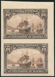 Re-Entries, Proof Material and Imperforates of the 1908 Quebec Tercentenary Issue