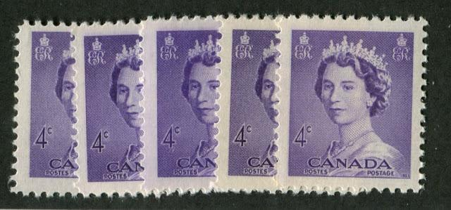 Shade, Perforation, Paper and Gum Varieties on the Karsh and Heritage Definitives of 1953-1967