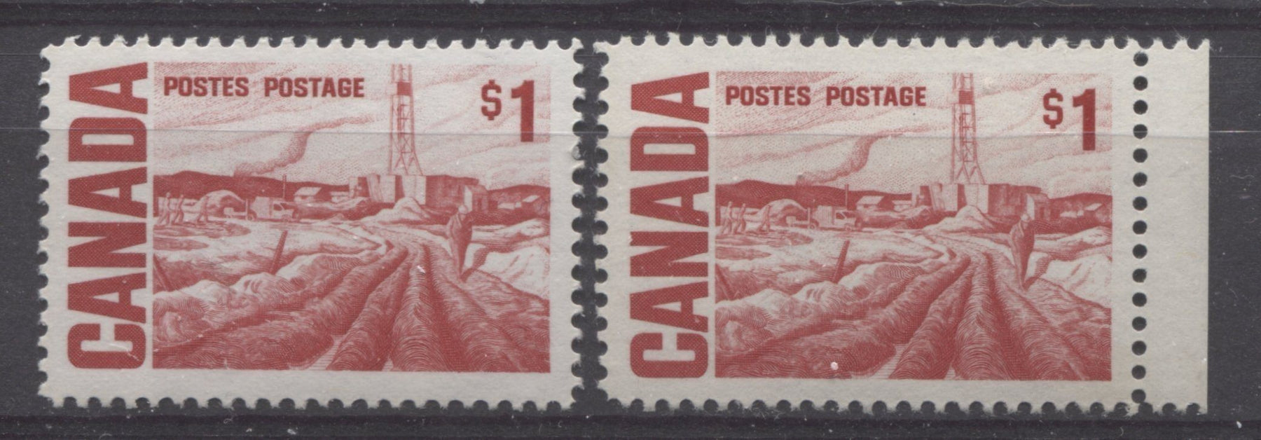 The $1 Edmonton Oilfield Stamp From the 1967-1973 Centennial Issue