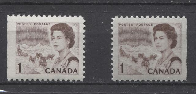 The 1c Brown Northern Lights and Dogsled Stamp of the 1967-1973 Centennial Issue - Part Three