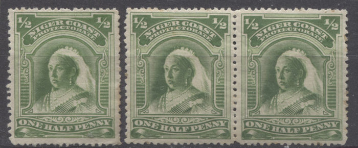 The Halfpenny Green Queen Victoria Stamp From The 1894 Second Waterlow Issue of Niger Coast Protectorate - Part 1