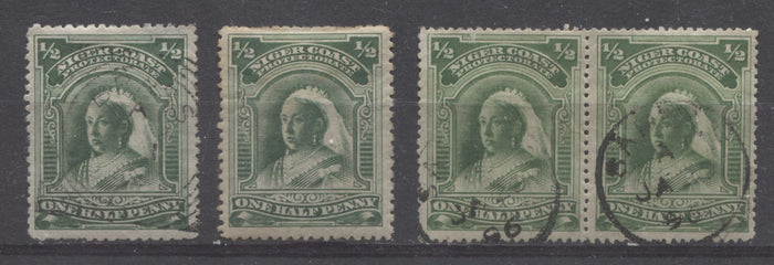 The Halfpenny Green Queen Victoria Stamp From The 1894 Second Waterlow Issue of Niger Coast Protectorate - Part 2
