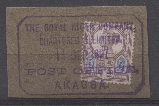 The Overprinted Great Britain Issues Of Niger Coast Protectorate 1892-1894 Part Four