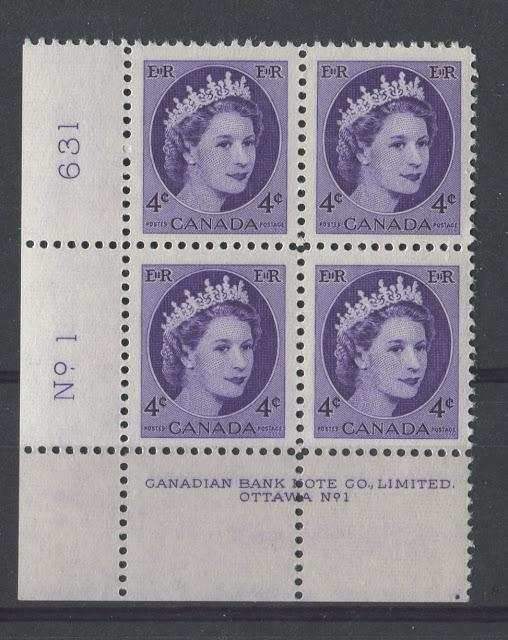 The Position Dots On The Plate Blocks of The Wilding Issue 1954-1967