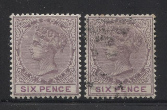 The Printings of the 6d Lilac and Mauve Queen Victoria Keyplate Stamp of Lagos - Part Four